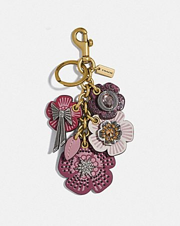 TEA ROSE STAR CLUSTER BAG CHARM