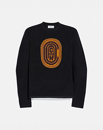 COACH INTARSIA SWEATER