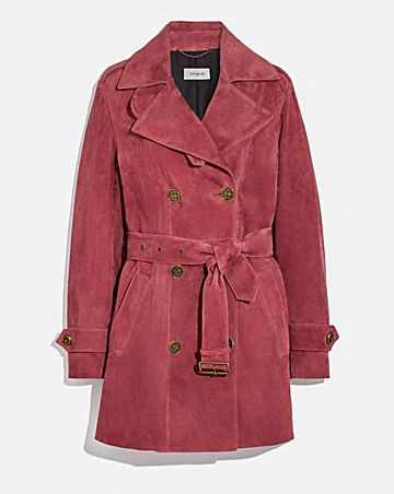 SHORT SUEDE TRENCH COAT