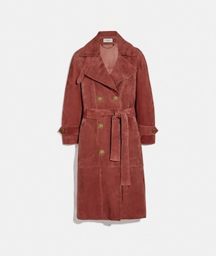 DRAPEY SUEDE TRENCH COAT