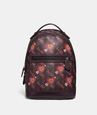 BARROW BACKPACK WITH HORSE AND CARRIAGE PRINT AND HEARTS
