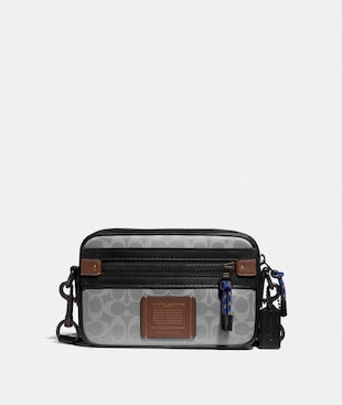 ACADEMY CROSSBODY IN REFLECTIVE SIGNATURE CANVAS