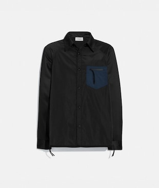 COLORBLOCK SATIN SHIRT
