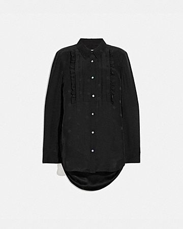 JACQUARD BIB SHIRT DRESS