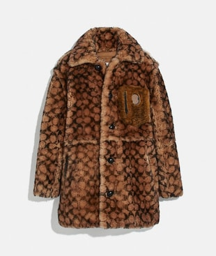 SIGNATURE SHEARLING COAT