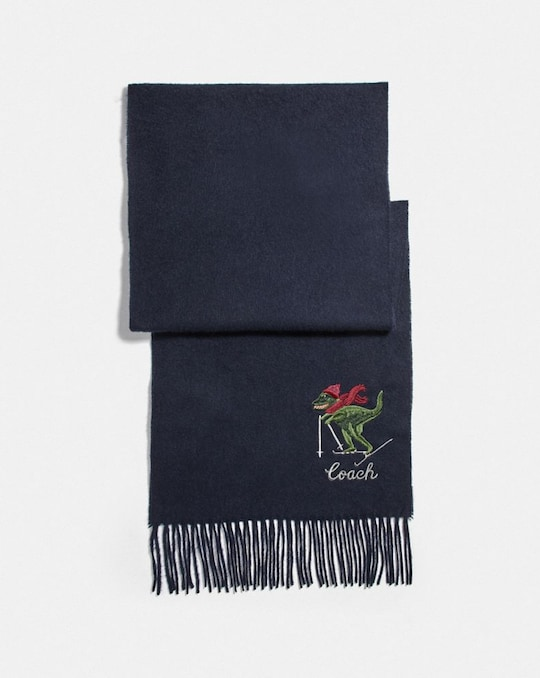 REXY EMBROIDERED MUFFLER