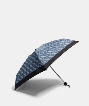 MINI UMBRELLA WITH HORSE AND CARRIAGE PRINT