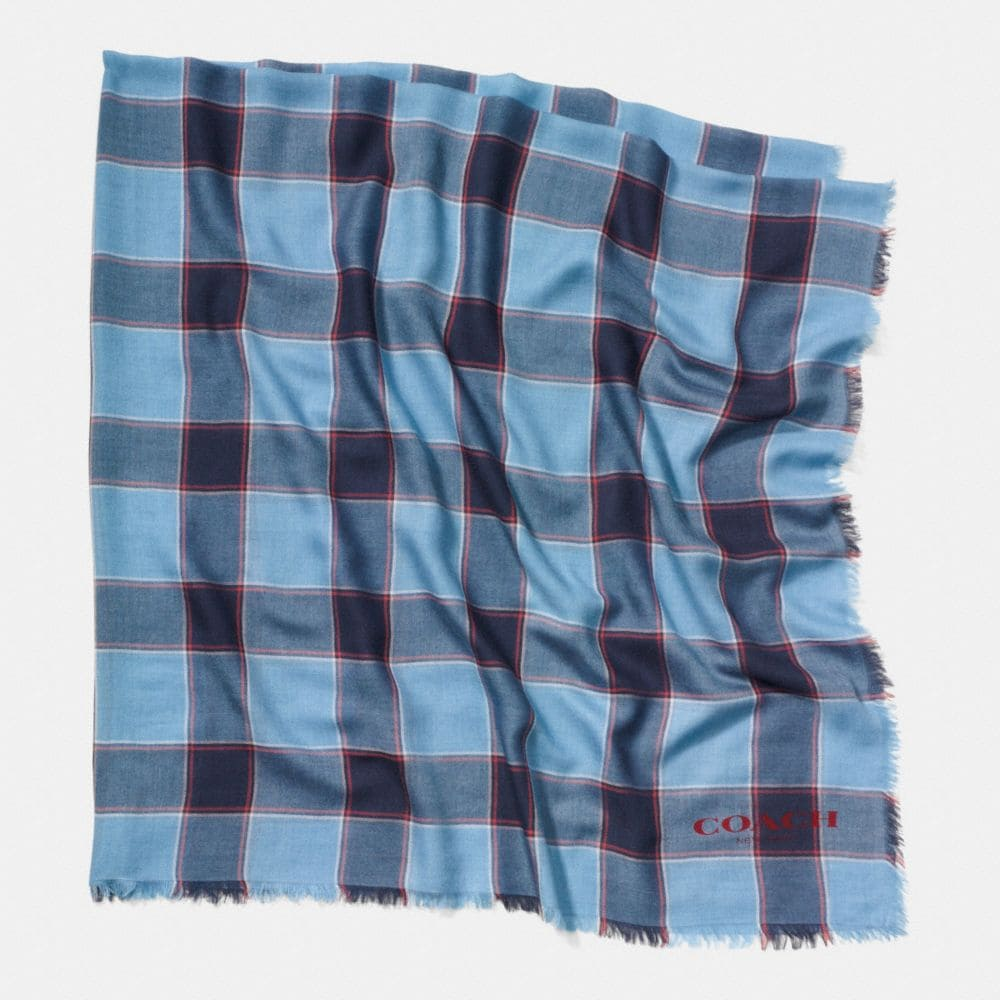 CHECK PLAID OVERSIZED SQUARE SCARF