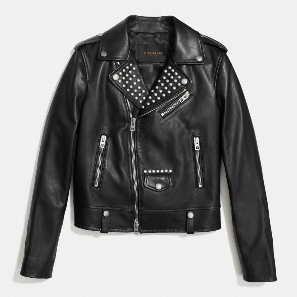 EMBELLISHED EASY MOTO JACKET