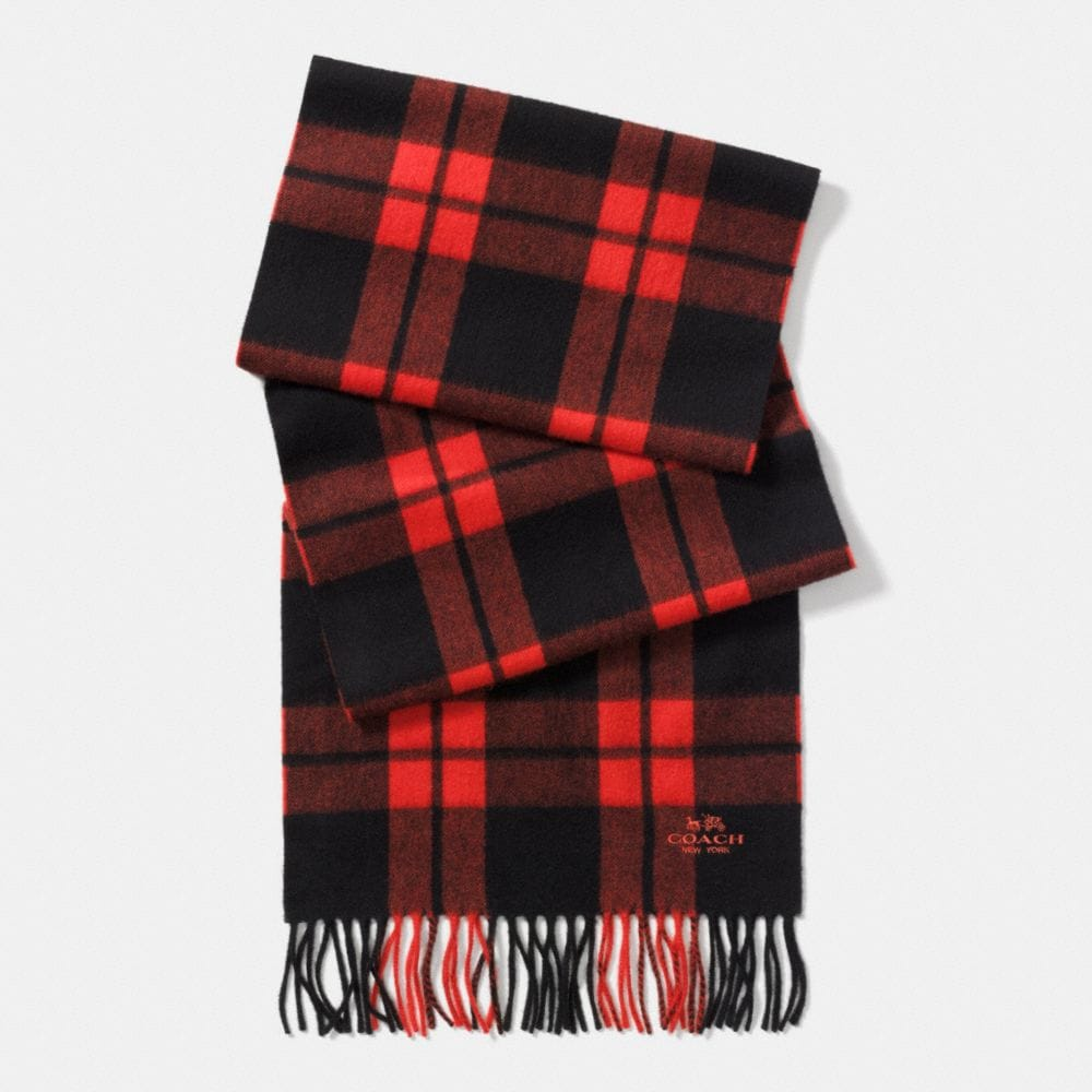 MOUNT PLAID SCARF