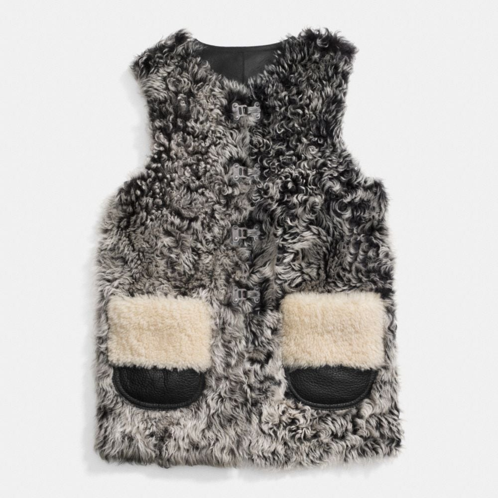 CURLY SHEEP VEST