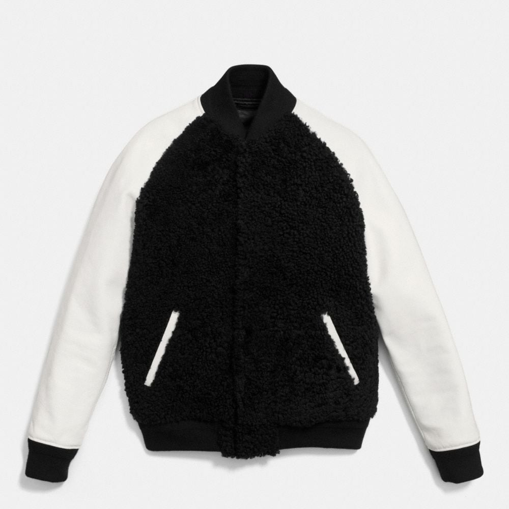 SHEARLING BASEBALL JACKET