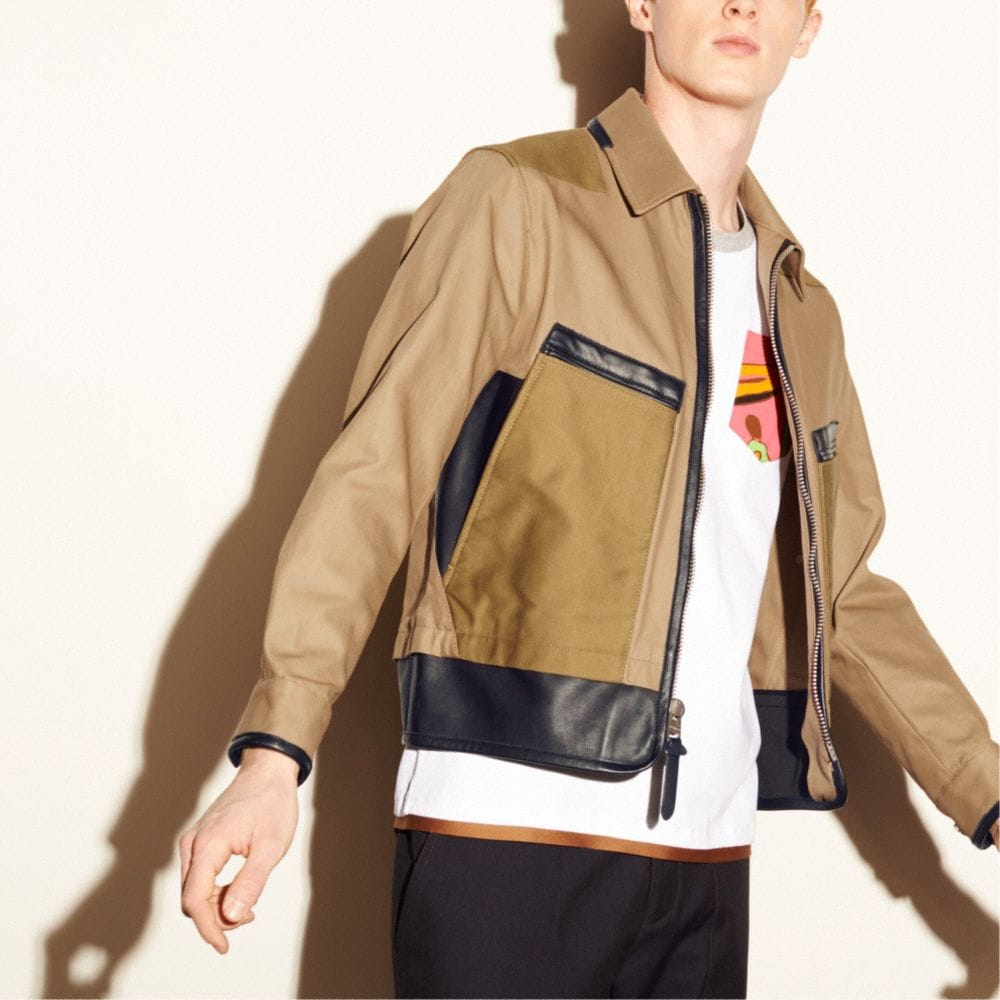 MIXED FABRIC FLIGHT JACKET