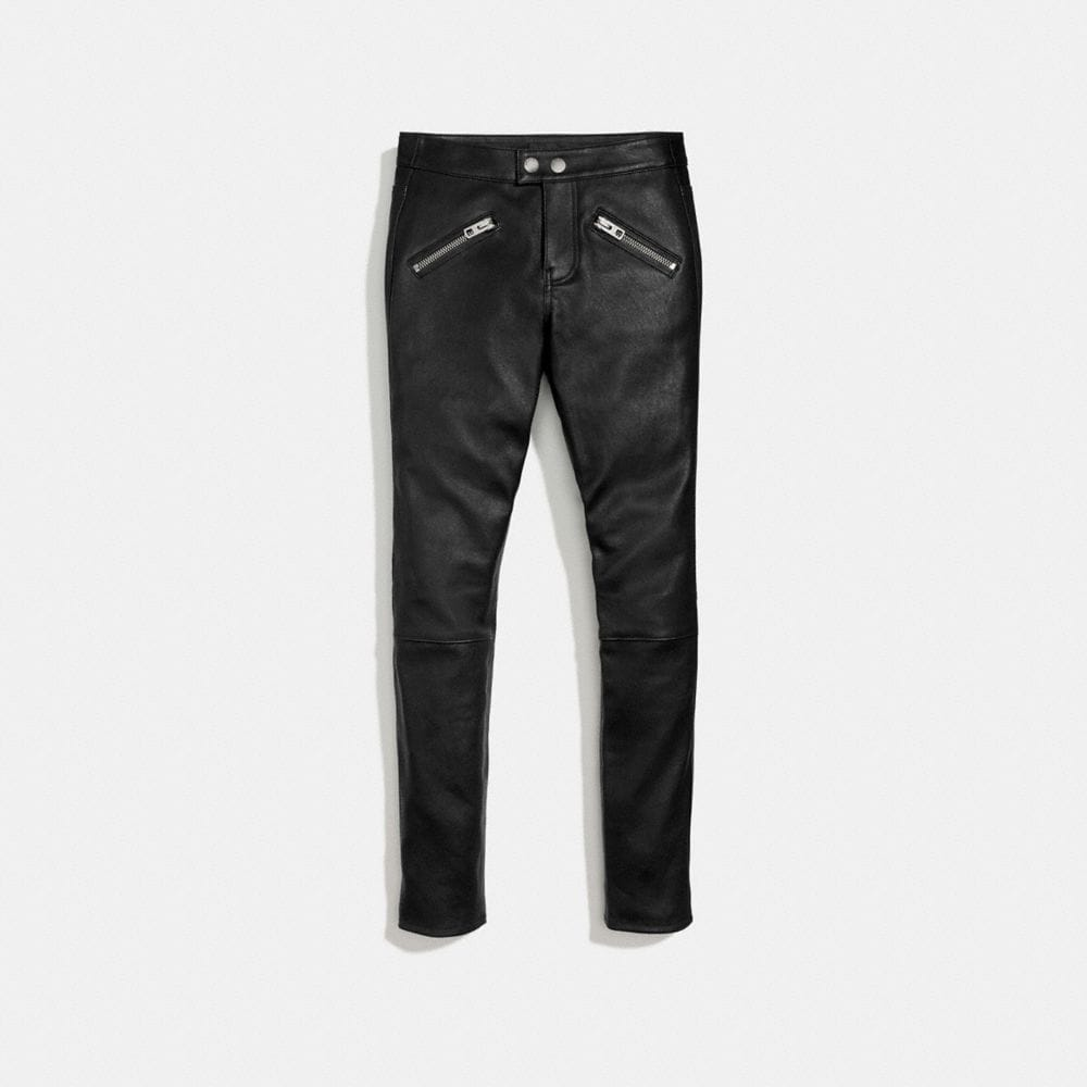ZIP POCKET LEATHER PANT