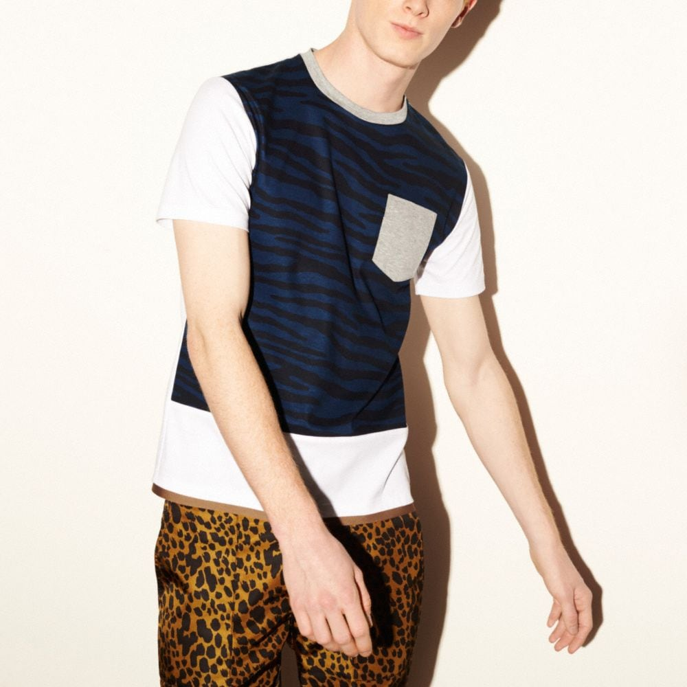 TIGER PRINTED TEE SHIRT WITH BAND