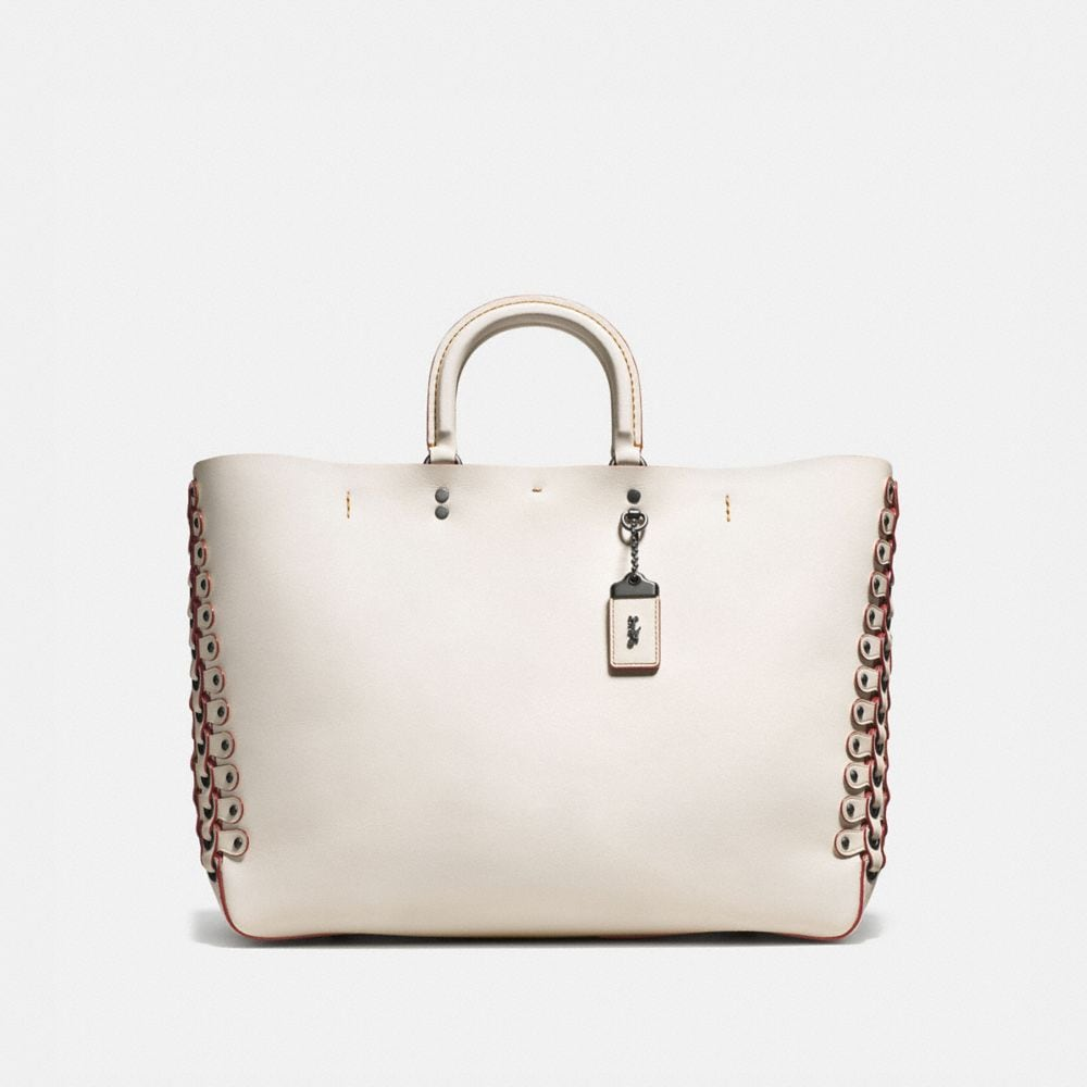 ROGUE TOTE IN GLOVETANNED CALF LEATHER WITH COACH LINK DETAIL