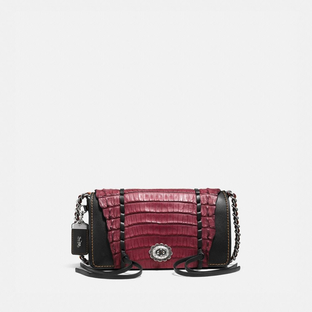 DINKY IN GLOVETANNED LEATHER WITH WHIPSTITCH CROCODILE