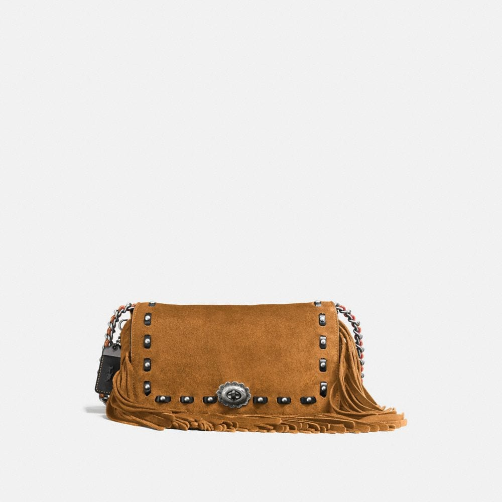 DINKY IN CERVO SUEDE WITH FRINGE