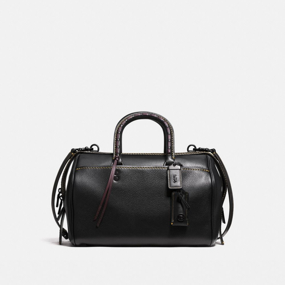 ROGUE SATCHEL WITH EMBELLISHED HANDLE IN PEBBLE LEATHER