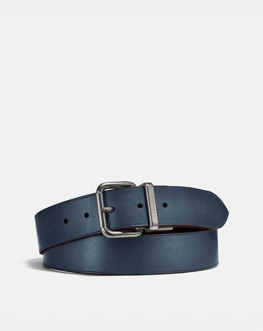 HARNESS BUCKLE CUT-TO-SIZE REVERSIBLE BELT, 38MM