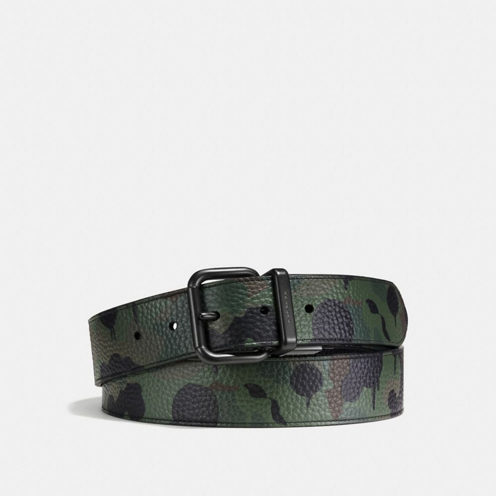 JEANS BUCKLE CUT-TO-SIZE REVERSIBLE WILD BEAST LEATHER BELT