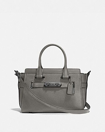 Tote - Colorblock Mixed Leather Coach Swagger 27 Marine - blue - Tote for ladies Coach xmvqqFtGX