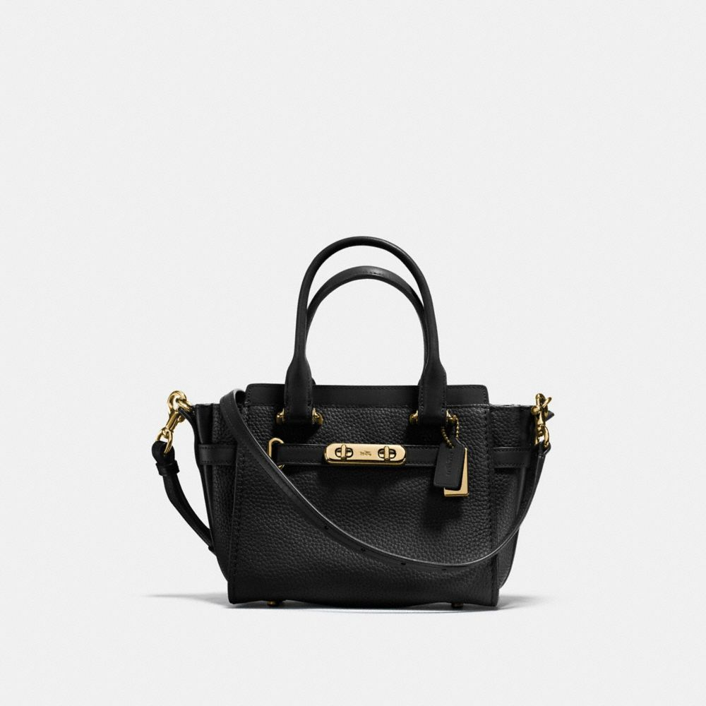 COACH SWAGGER 21 IN PEBBLE LEATHER