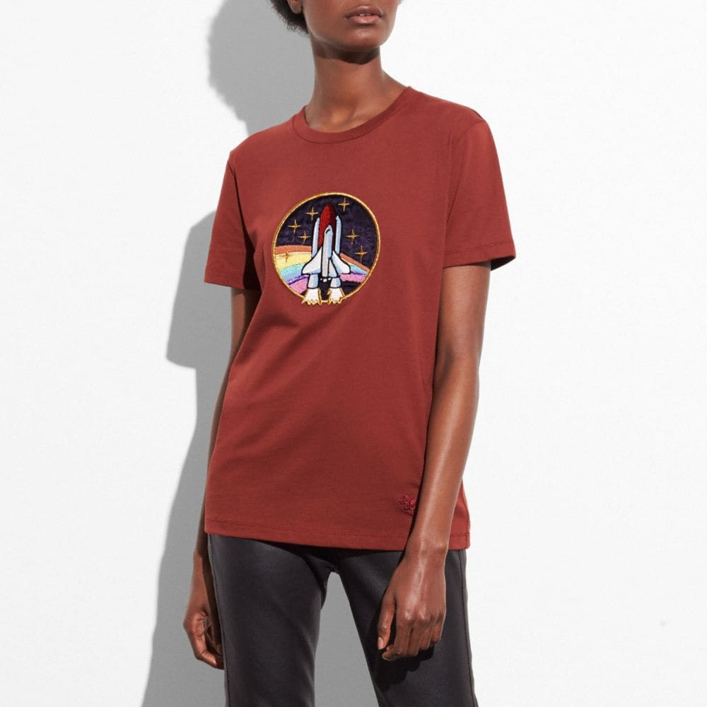 SPACESHIP APPLIQUE T-SHIRT