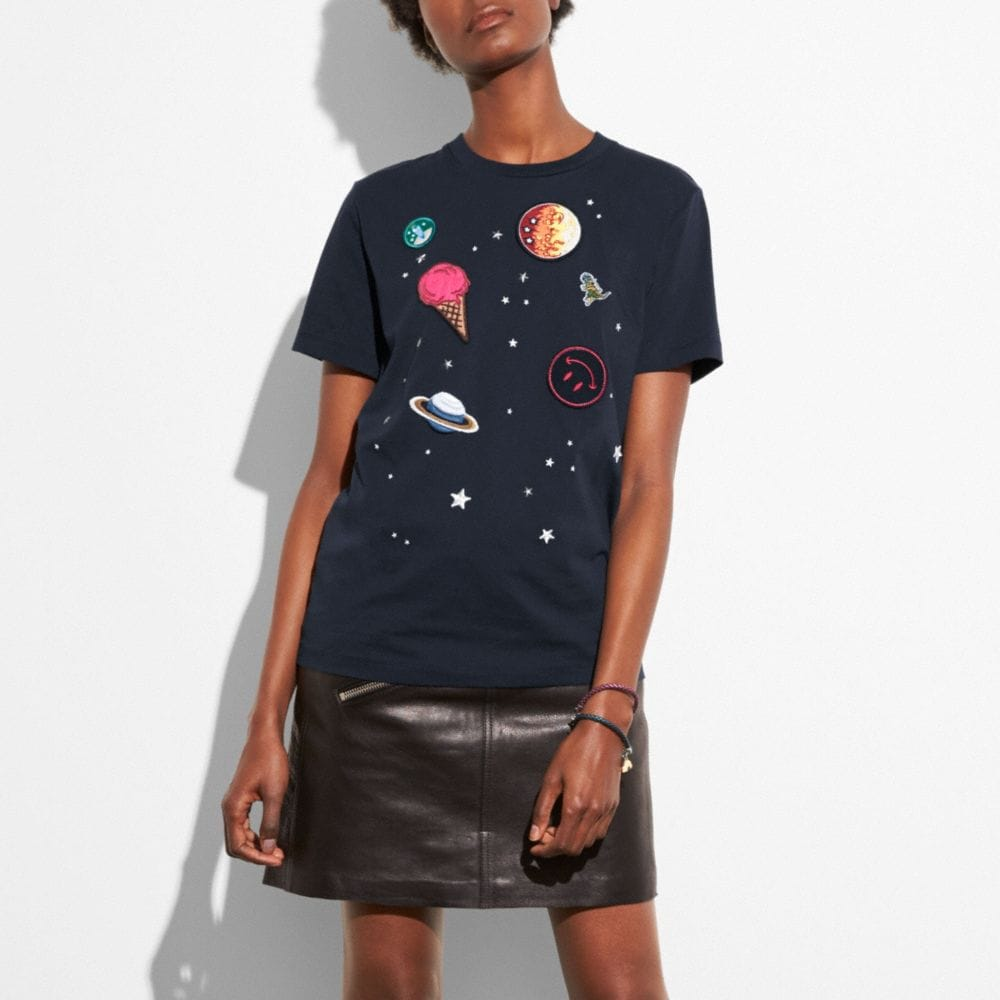 PLANET EMBROIDERY T-SHIRT