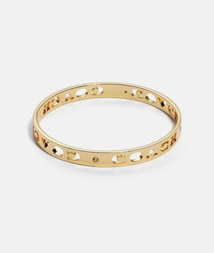 PIERCED COACH BANGLE