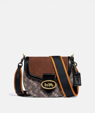 KAT SADDLE BAG 20 WITH HORSE AND CARRIAGE PRINT