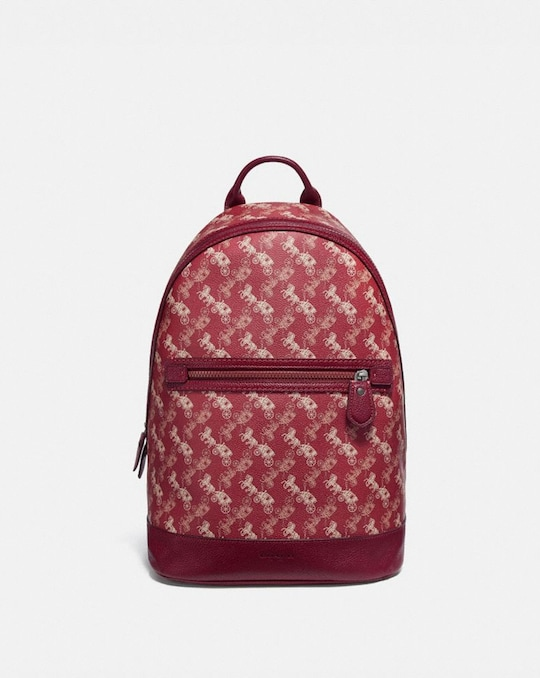 BARROW BACKPACK WITH HORSE AND CARRIAGE PRINT