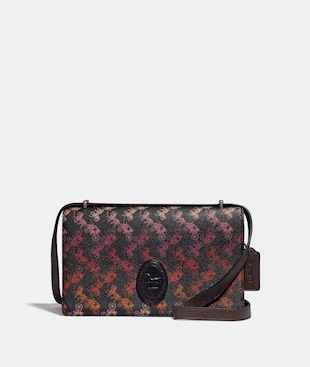 CAMILLE CROSSBODY WITH HORSE AND CARRIAGE PRINT AND ARCHIVE PATCH