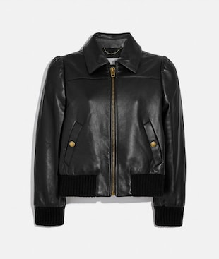 GIACCA BOMBER SARTORIALE IN PELLE