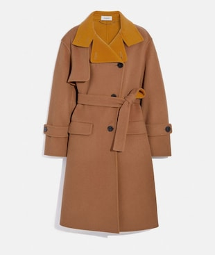 OVERSIZED STORM FLAP COAT