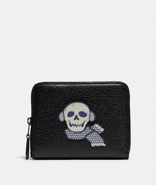 SMALL ZIP AROUND WALLET WITH BONESY