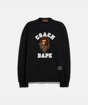 BAPE X COACH CREWNECK SWEATSHIRT