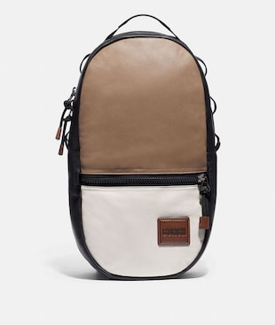 PACER BACKPACK IN COLORBLOCK WITH COACH PATCH
