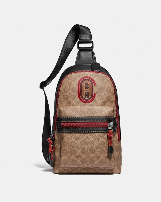 ACADEMY PACK IN SIGNATURE CANVAS WITH COACH PATCH