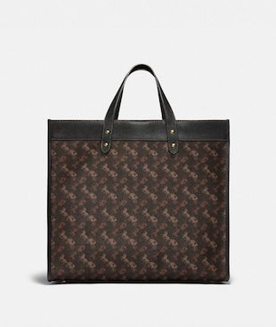 FIELD TOTE 40 WITH HORSE AND CARRIAGE PRINT