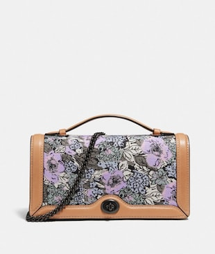 RILEY CHAIN CLUTCH WITH HERITAGE FLORAL PRINT