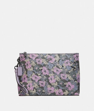 CHARLIE POUCH WITH HERITAGE FLORAL PRINT