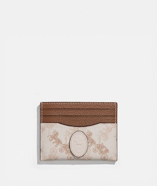CARD CASE WITH HORSE AND CARRIAGE PRINT AND ARCHIVE PATCH