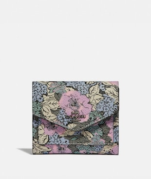 SMALL WALLET WITH HERITAGE FLORAL PRINT