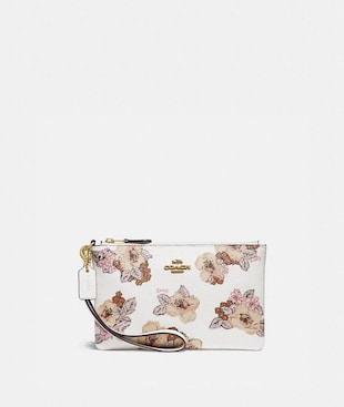 SMALL WRISTLET WITH FLORAL BOUQUET PRINT