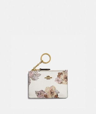 MINI SKINNY ID CASE WITH FLORAL BOUQUET PRINT