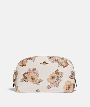 COSMETIC CASE 17 WITH FLORAL BOUQUET PRINT