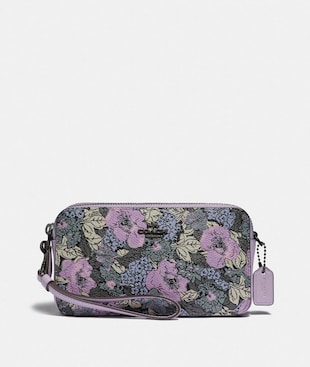 KIRA CROSSBODY WITH HERITAGE FLORAL PRINT