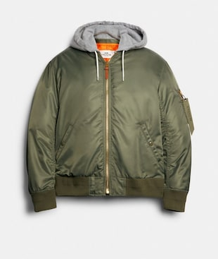 NYLON HOODED MA-1 JACKET