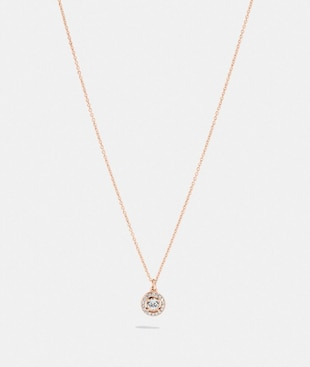 PAVE RING STUD NECKLACE